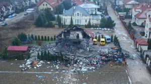 Wybuch w Łomiankach. Jest decyzja o rozbiórce budynku