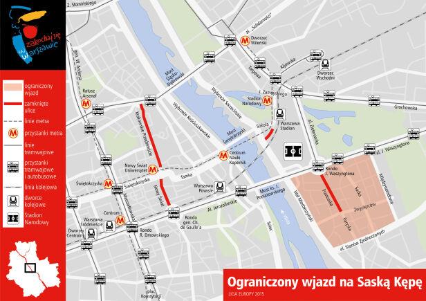 Organizacja ruchu po godzinie 15 UM Warszawa
