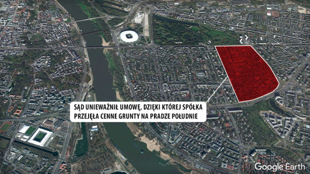 Ogródki to 32 ha na Pradze Południe Google Earth