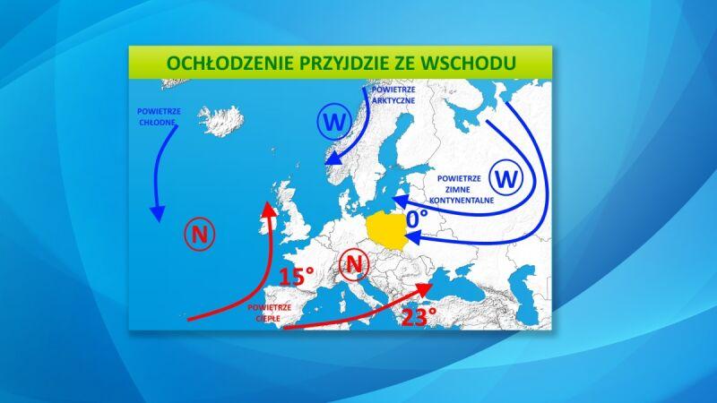 Do Polski zacznie napływać zimne powietrze