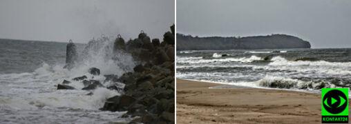 Wysokie fale i silny wiatr na Waszych zdjęciach