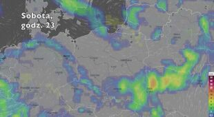 Opady deszczu w ciągu kolejnych pięciu dniu (Ventusky.com | wideo bez dźwięku)